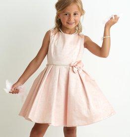 Miss Leod jurk roze met slubeffect