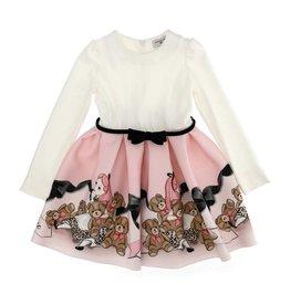 Monnalisa jurk Alice roze wit lm