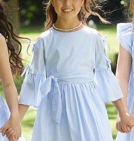RTB jurk fijne streep blauw wit