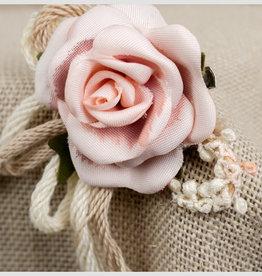 Zoysan haarspeld met roos nude