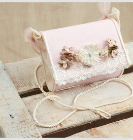 Zoysan handtasje nude met bloemetjes