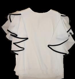 T-Love blouse wit bies zwart