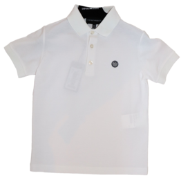 Armani polo effen wit basis