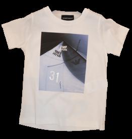 Armani T-shirt wit zeilboot blauw