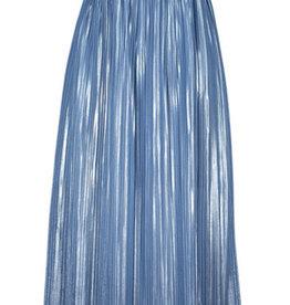 Noali rok lang blauw gans plisse