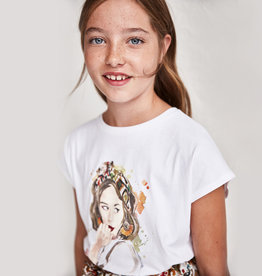Mayoral T-shirt ecru kaki haarband