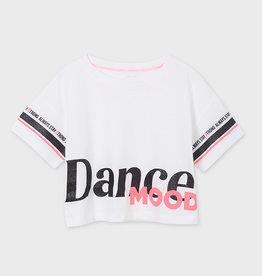 Mayoral T-shirt wit zwart dance mood