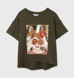 Mayoral T-shirt kaki met print