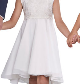 Emie jurk ecru langer achter