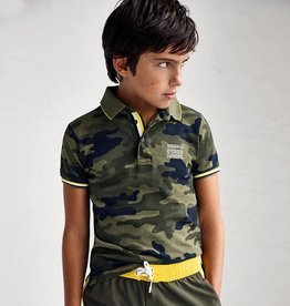 Mayoral polo met camouflage print