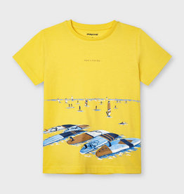 Mayoral t-shirt geel met print