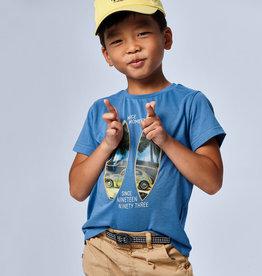 Mayoral t-shirt kobalt palmboom auto