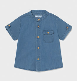 Mayoral hemd mao kraag jeans blauw