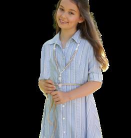 RTB jurk kraag streep blauw wit