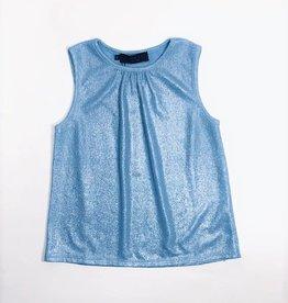 Noali top blauw glitter