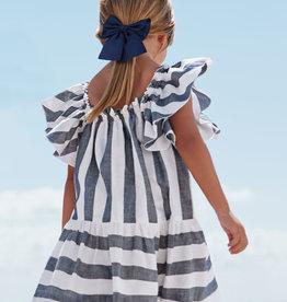 Abel&Lula zomer jurk blauw wit streep