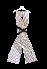 Liu Jo jumpsuit streep wit zwart lurex