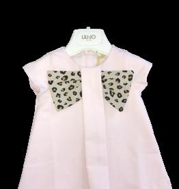 Liu Jo jurk roze strik leopard