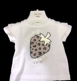 Liu Jo T-shirt wit aardbei leopard
