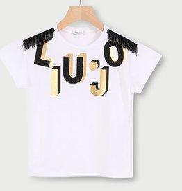 Liu Jo T-shirt wit logo zwart