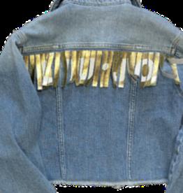 Liu Jo blazer jeans franjes goud