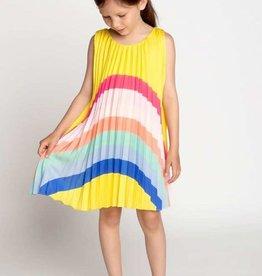 Billieblush jurk geel plisse kleuren