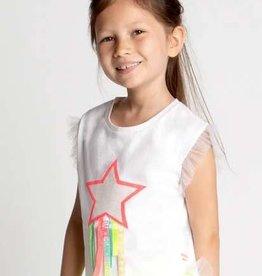 Billieblush T-shirt wit ster kleuren