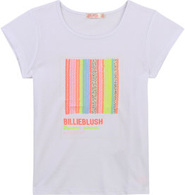 Billieblush T-shirt wit rainbow