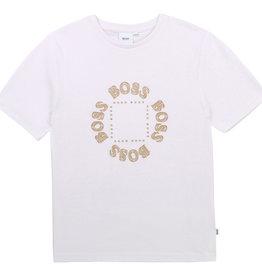 Hugo Boss T-shirt wit met rond logo