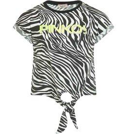 Pinko Up t-shirt km zebraprint