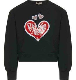 Pinko Up sweater zwart rood hart