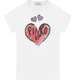 Pinko Up T-shirt wit km rood hart