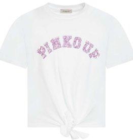 Pinko Up T-shirt wit km logo lila