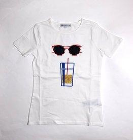 Patrizia Pepe T-shirt bril en beker