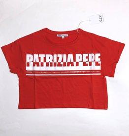 Patrizia Pepe T-shirt rood kort logo