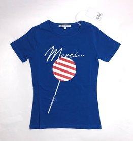 Patrizia Pepe t-shirt blauw merci
