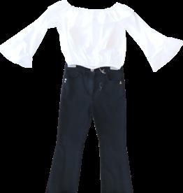 Patrizia Pepe blouse wijde hals wit
