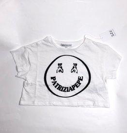 Patrizia Pepe T-shirt wit smile zwart