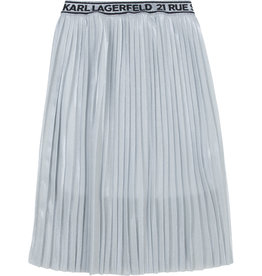 Karl Lagerfeld rok plisse zilver