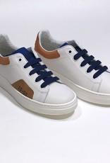 Red Limit/Hoops sneaker wit met cobalt en roestbruin accent