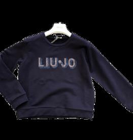 Liu Jo sweater dblauw glitter logo