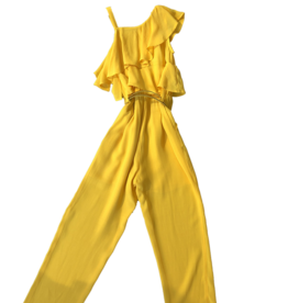 Liu Jo jumpsuit geel open schouder