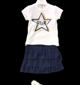 Liu Jo set t-shirt ster/rok blauw