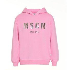 MSGM hoodie sweater in fel rose
