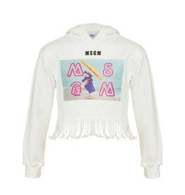 MSGM wit hoodie franje