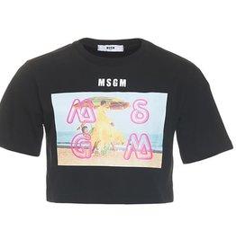 MSGM T-shirt zwart retro style
