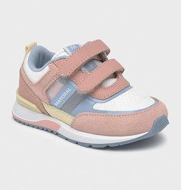 Mayoral sneaker ecru roze velcro