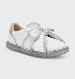 Mayoral sneaker wit zilver strik velcro