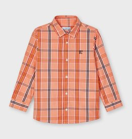 Mayoral hemd ruit met oranje
