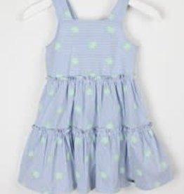 Blue Bay jurk Maike streep dbl wit